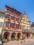 Costruzioni nel cuore di Colmar medievale immagine stock libera da diritti