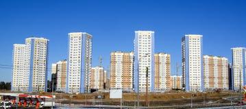 Costruzioni nel nuovo distretto di Domodedovo Immagini Stock