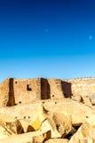 Costruzioni nel parco storico nazionale della cultura del Chaco, nanometro, U.S.A. Fotografia Stock