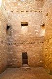 Costruzioni nel parco storico nazionale della cultura del Chaco, New Mexico, Immagine Stock Libera da Diritti