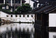 Costruzioni nella città dell'acqua di Tongli Immagine Stock Libera da Diritti