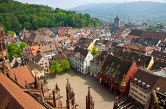 Costruzioni nella città di Friburgo-in-Brisgovia, Germania Immagine Stock Libera da Diritti