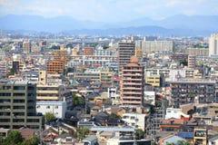 Costruzioni nella città di Nagoya Fotografia Stock Libera da Diritti