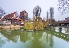 Costruzioni nella città tedesca di Norimberga Fotografia Stock