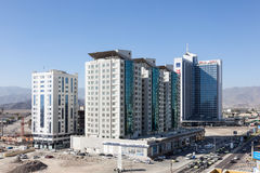 Costruzioni nella città della Fujairah, UAE Fotografia Stock
