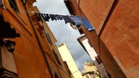 Costruzioni nella regione di Trastevere di Roma Fotografie Stock