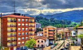 Costruzioni nella vecchia città di Irun - la Spagna Fotografia Stock Libera da Diritti