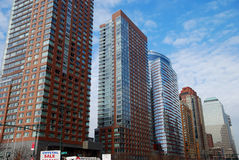 Costruzioni a New York Ciy Fotografie Stock Libere da Diritti