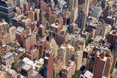 Costruzioni a New York del centro Immagini Stock
