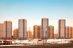 Costruzioni in nuovo Domodedovo Fotografia Stock Libera da Diritti