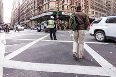 Costruzioni occupate in New York, twillight del Times Square Fotografie Stock