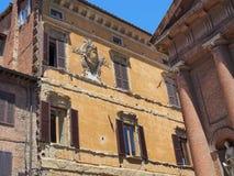 Costruzioni originali, vecchia Siena, Italia immagine stock libera da diritti