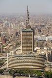 Costruzioni prominenti di Il Cairo del centro Immagine Stock