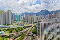 Costruzioni pubbliche della proprietà di Hong Kong Fotografia Stock Libera da Diritti