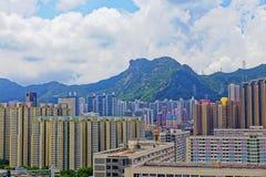 Costruzioni pubbliche della proprietà di Hong Kong Fotografia Stock