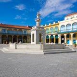 Costruzioni quadrate e coloniali a vecchia Avana Fotografie Stock Libere da Diritti