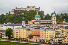 Costruzioni a Salisburgo Austria Fotografia Stock Libera da Diritti