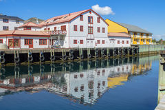 Costruzioni scandinave variopinte Fotografia Stock