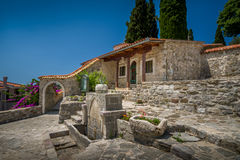 Costruzioni storiche in Città Vecchia di Antivari Fotografia Stock