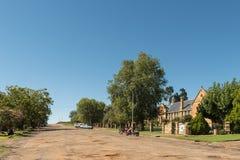 Costruzioni storiche dell'arenaria della High School in Ladybrand fotografie stock libere da diritti