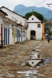 Costruzioni storiche di Paraty Fotografia Stock