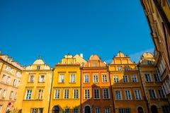 Costruzioni storiche a Varsavia Fotografia Stock Libera da Diritti