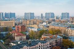 Costruzioni su Mosca nuovo Arbat Fotografia Stock Libera da Diritti