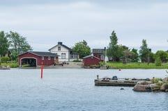 Costruzioni sull'isola Haapasaari Fotografie Stock