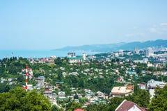 Costruzioni sulla costa di Soci, veduta panoramica Immagine Stock