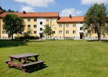Costruzioni svedesi di apatment Fotografie Stock