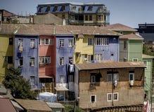 Costruzioni tipical di Valparaiso Immagini Stock Libere da Diritti