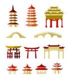 Costruzioni tradizionali cinesi Fotografia Stock Libera da Diritti