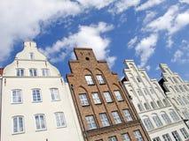 Costruzioni tradizionali in Lübeck Fotografia Stock Libera da Diritti