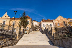 Costruzioni-Uhersky residenziali Brod, repubblica Ceca Fotografia Stock