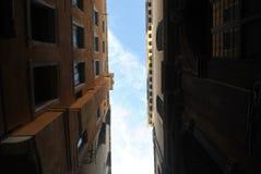 Costruzioni in un vicolo in Vencie Fotografie Stock
