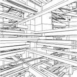 Costruzioni urbane astratte della città nel vettore 146 di caos royalty illustrazione gratis