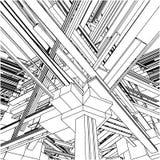 Costruzioni urbane astratte della città nel vettore 153 di caos illustrazione di stock