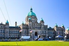 Costruzioni in Victoria, Canada del Parlamento della Columbia Britannica Fotografie Stock