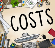 Costs Accounting Financial Money Cash Concept.  Royalty Free Stock Images
