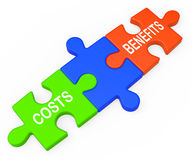 Costs Benefits Shows Analysis Of Investment Royalty Free Stock Photos