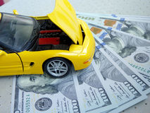 Costs of car repairs Stock Images