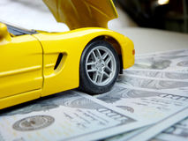 Costs of car repairs Royalty Free Stock Images