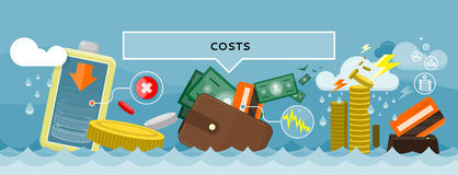 Costs Concept Design Style Flat Stock Images