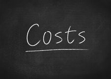 Costs. Concept word on blackboard background Royalty Free Stock Photography
