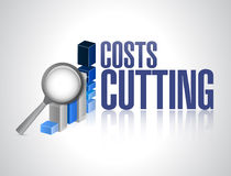 Costs cutting business graph illustration design Stock Photo