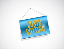 costs cutting hanging banner illustration Stock Photo