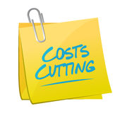 Costs cutting memo illustration design Royalty Free Stock Photography