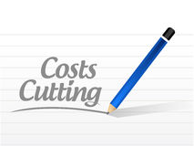 costs cutting message illustration Stock Photography