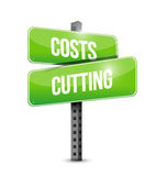 costs cutting road sign illustration design Royalty Free Stock Photos