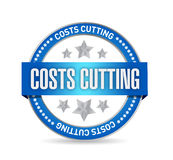 costs cutting seal illustration design Royalty Free Stock Image
